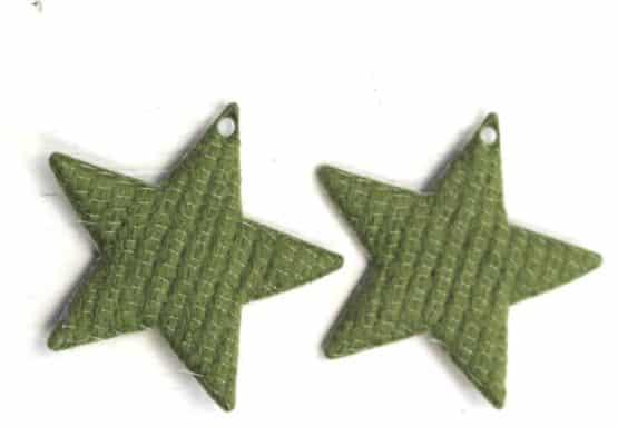 Geschenkanhänger Stern grün-creme, aus Stoff, 20 Stück Beutel - geschenkanhaenger, accessoires