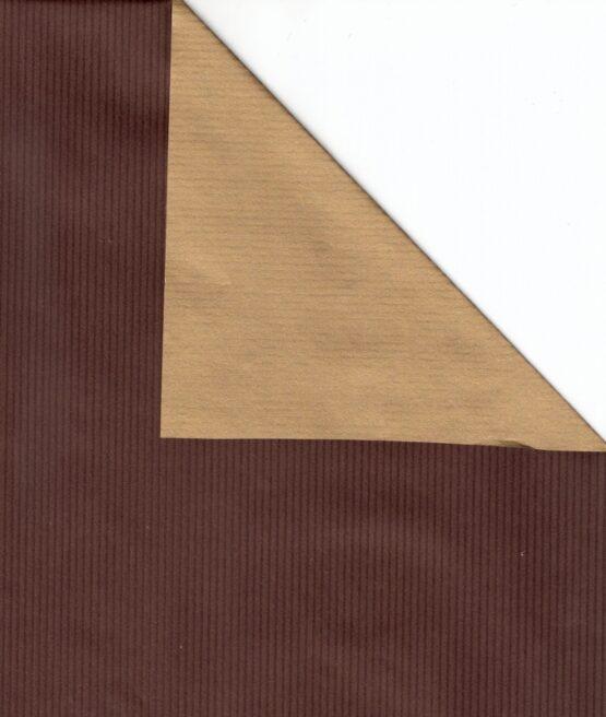 Geschenkpapier-Bogen braun / gold, 70 x 100 cm - geschenkpapier