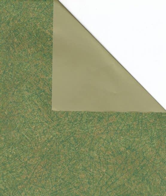 Geschenkpapier-Bogen grün / gold, 70 x 100 cm - geschenkpapier