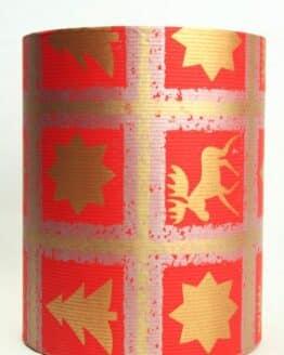 Geschenkpapier Secaré-Rolle rot-gold-silber, 20 cm - 250 m Rolle - geschenkpapier