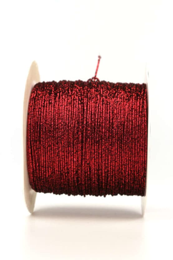 Drahtgimpe, rot, 1 mm stark - kordeln, andere-baender