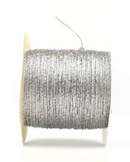 Drahtgimpe, silber, 1 mm stark - kordeln, andere-baender