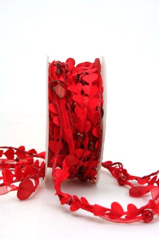 3fache Herzen-Girlande, rot - valentinstag, muttertag, anlasse