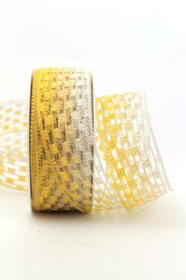 Gitterband gelb-weiss (158140-1)