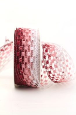 Gitterband rot-rosa (158140-5)