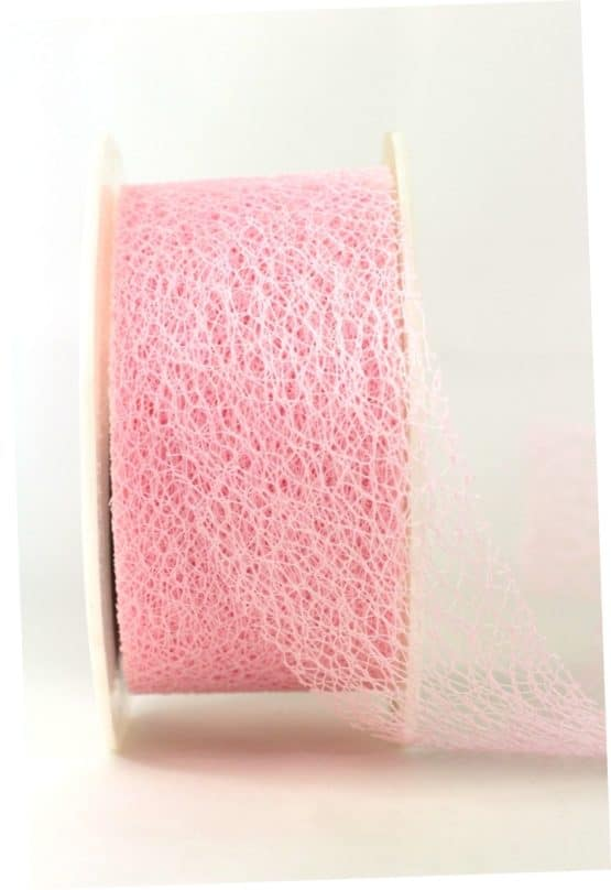 Gitterband rosa, 65 mm breit - geschenkband-einfarbig, dekoband