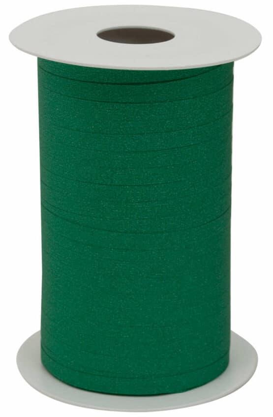 Glamour Glitzer-Kräuselband, dunkelgrün, 5 mm breit - polyband, geschenkband
