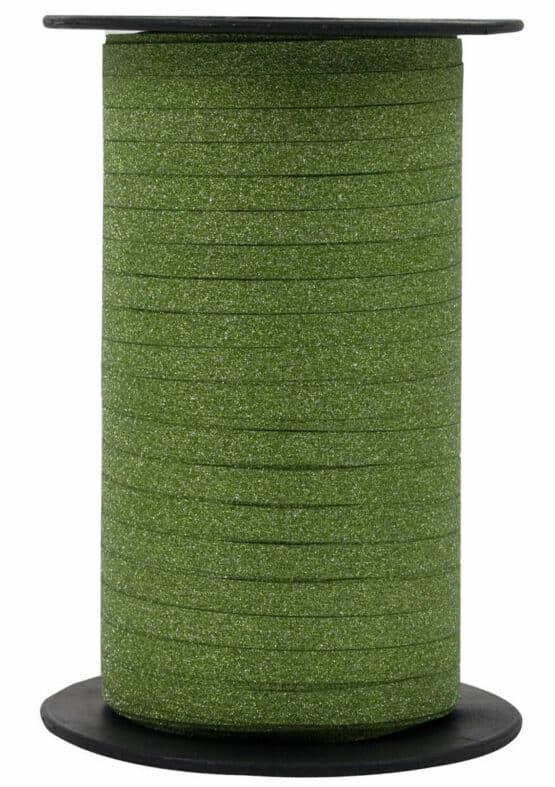 Glamour Glitzer-Kräuselband, fresh green, 5 mm breit - polyband, geschenkband