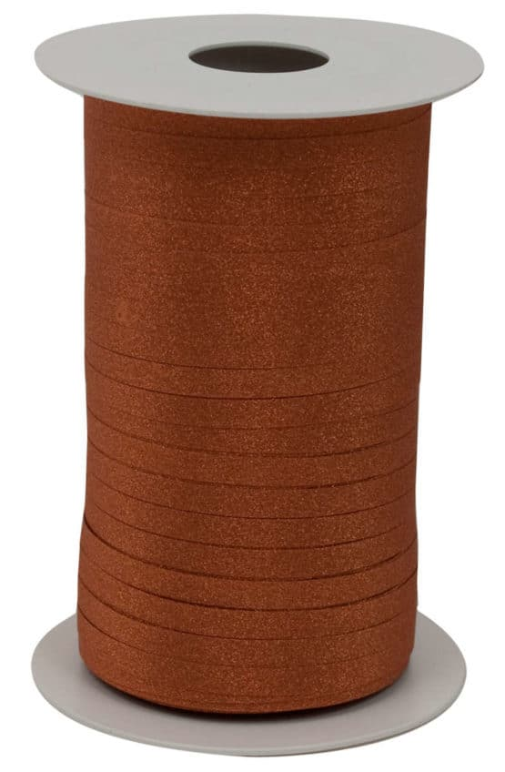 Glamour Glitzer-Kräuselband, kupfer, 5 mm breit - polyband, geschenkband