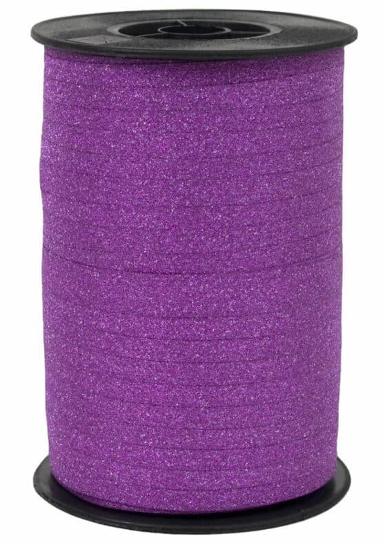 Glamour Glitzer-Kräuselband, pink, 5 mm breit - polyband, geschenkband