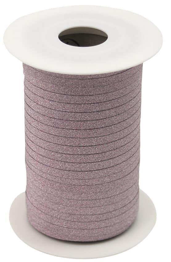 Glamour Glitzer-Kräuselband, rosa, 5 mm breit - polyband