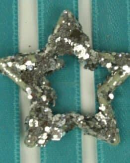 Glitzerstern silber, ca. 35mm - accessoires