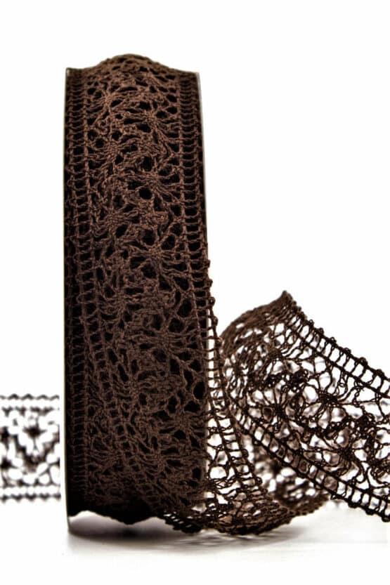 Häkelspitze, braun, 38 mm breit - spitzenbaender, hochzeit