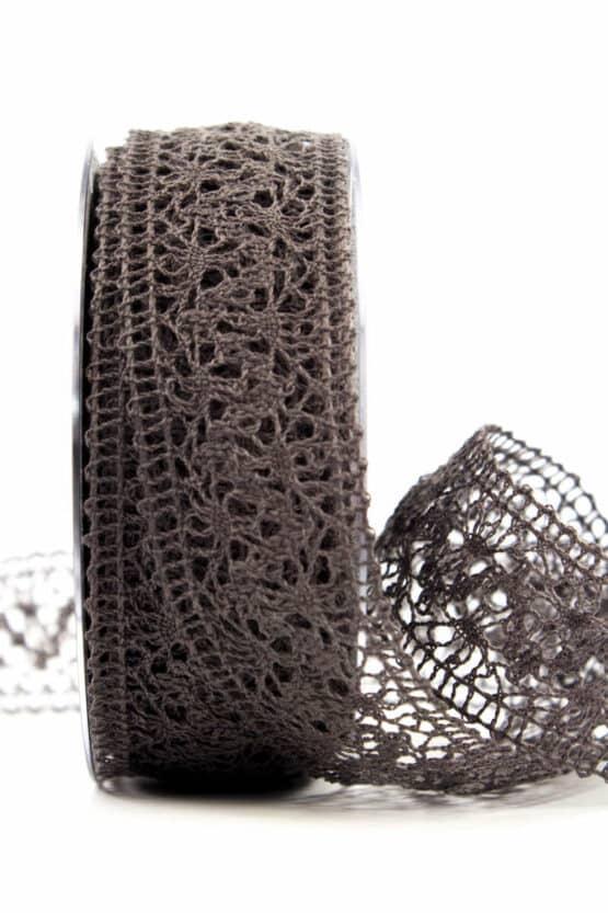 Häkelspitze, taupe, 38 mm breit - spitzenbaender, hochzeit