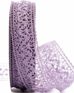 Häkelspitze, lila, 38 mm breit - spitzenbaender, hochzeit
