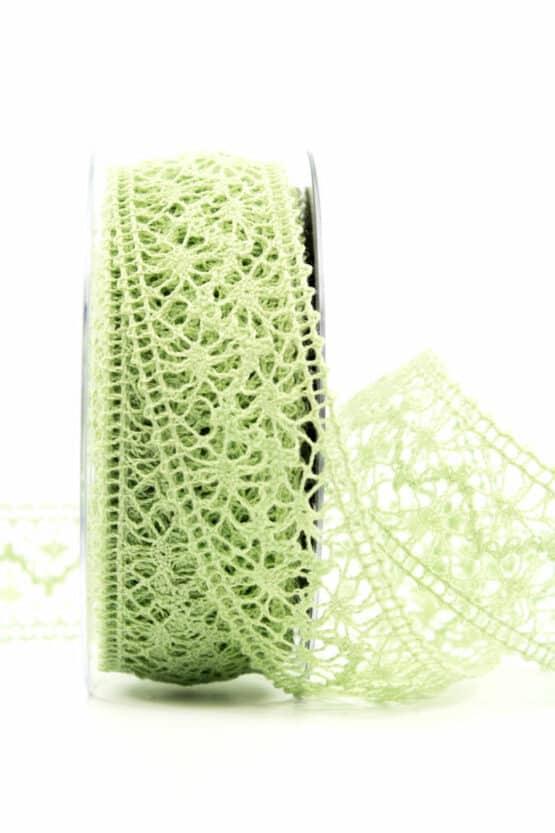 Häkelspitze, mintgrün, 38 mm breit - spitzenbaender, hochzeit