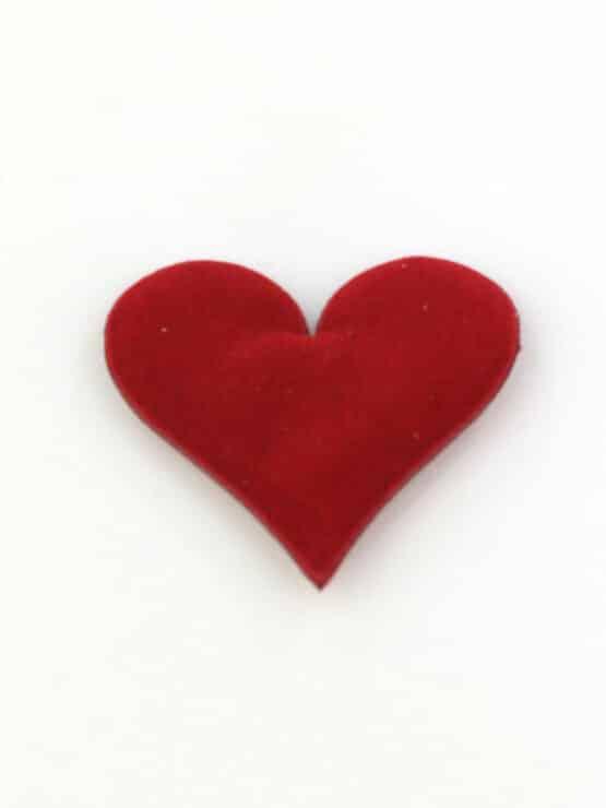 Streuherzen rot, samtig, 32 mm, 25 St. Beutel - valentinstag, muttertag, hochzeitsdeko, geschenkverpackung, accessoires