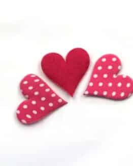 Herz, gepunktet, pink, 32 mm, 20 Stück - valentinstag, accessoires