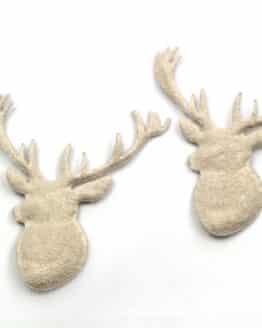 Hirschkopf creme, 80 mm, 20 Stück - accessoires