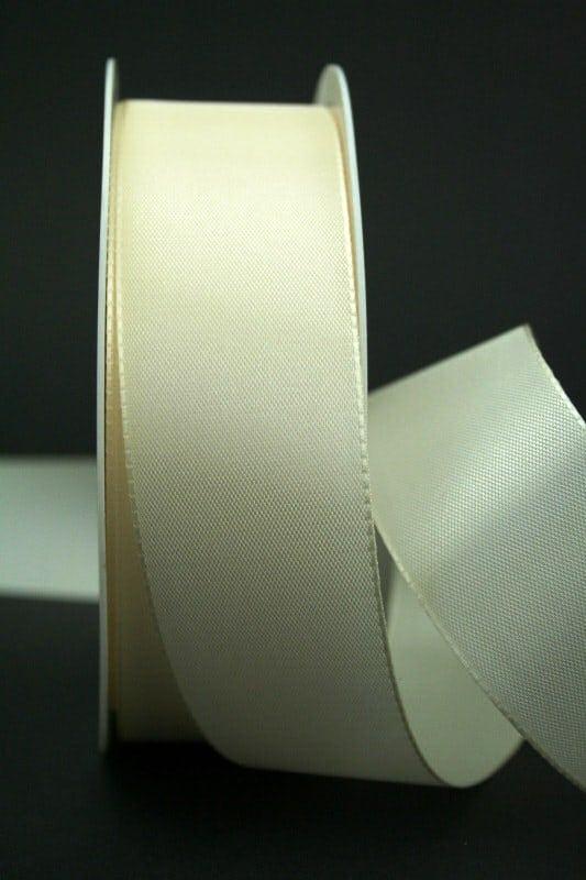 Schleifenband creme, 40 mm breit - hochzeit, anlasse