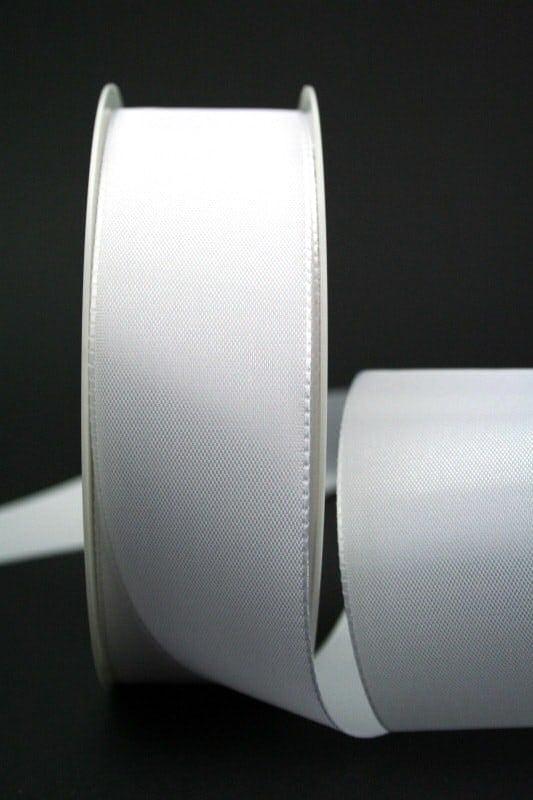 Schleifenband weiß, 40 mm breit - hochzeit, anlasse