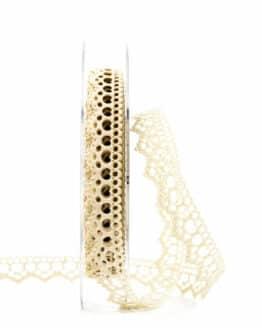 Hochzeitslitze, creme, 15 mm breit - spitzenbaender, vintage-baender, hochzeit, geschenkband, geschenkband-fuer-anlaesse, anlasse