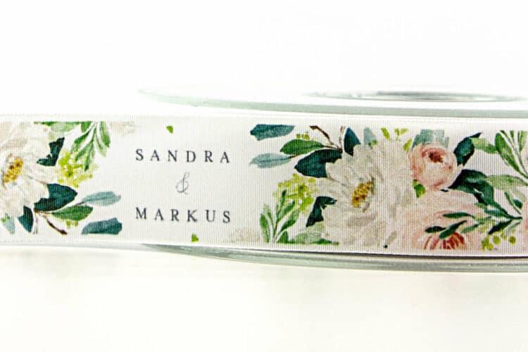 Personalisierte Hochzeitsbänder mit 4c-Druck - personaliserte-bander