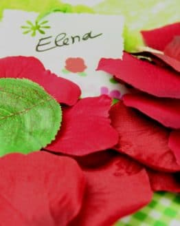 Künstliche Rosenblätter, dunkelrot - hochzeit, hochzeitsdeko, anlasse
