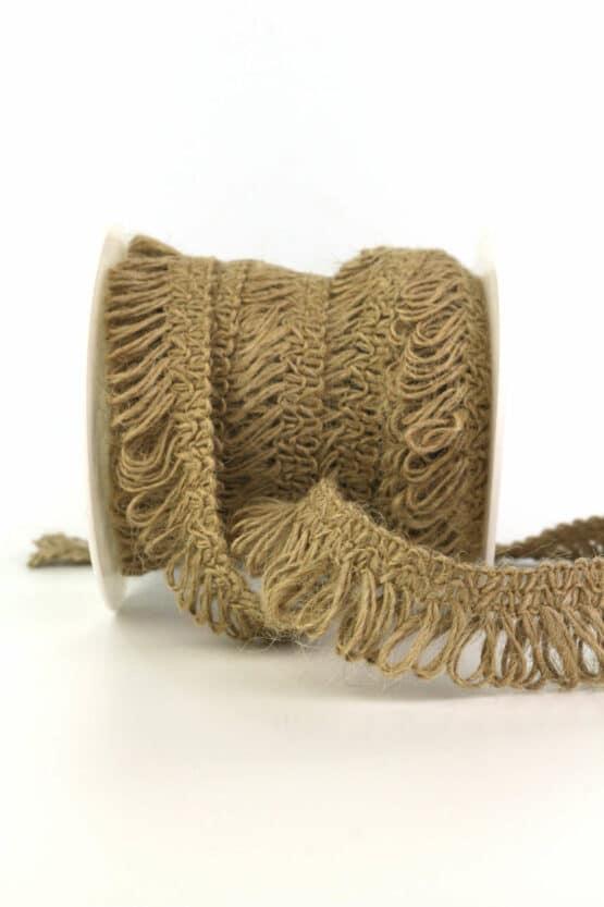 Zierlitze Jute braun, 25 mm - geschenkband, geschenkband-gemustert, dekoband