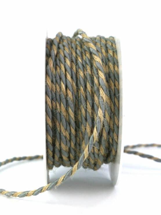 Jutekordel, 2-farbig blau-braun, 4 mm stark - kordeln, andere-baender