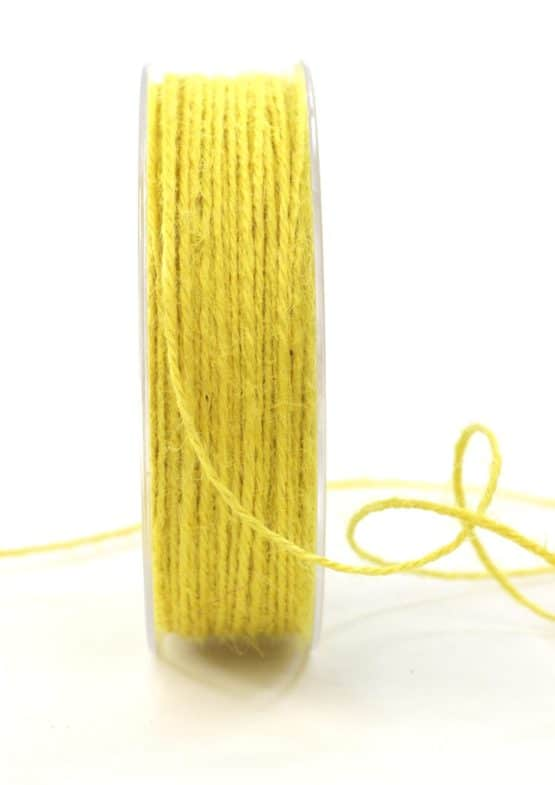 Jute-Kordel/Schnur, gelb, 1,5 mm breit - kordeln