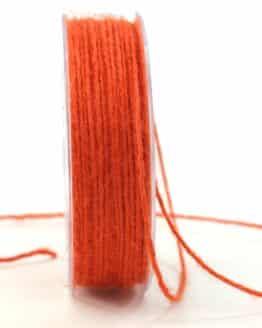 Jute-Kordel/Schnur, orange, 1,5 mm breit - kordeln