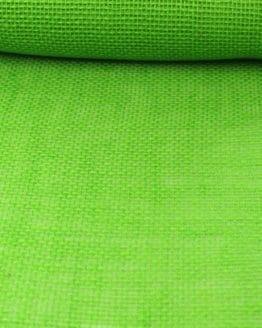 Jute-Tischläufer apfelgrün, 30 cm breit, 10 m Rolle - juteband