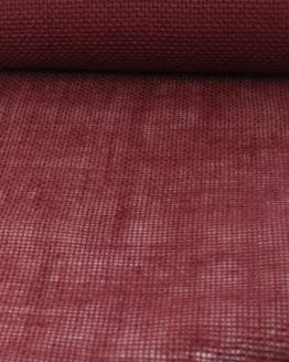 Jute-Tischläufer bordeaux, 30 cm breit, 10 m Rolle - juteband