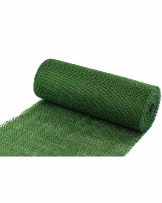 Jute-Tischläufer dunkelgrün, 30 cm breit, 10 m Rolle - juteband