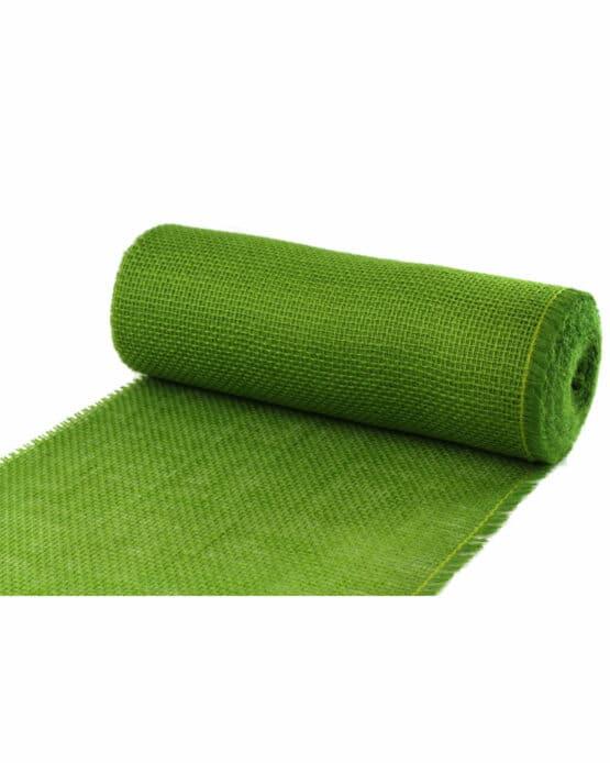 Jute-Tischläufer freshgreen, 30 cm breit, 10 m Rolle - juteband