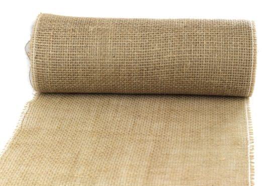 Jute-Tischläufer natur, 30 cm breit, 10 m Rolle - juteband
