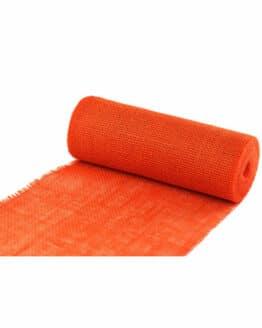 Jute-Tischläufer orange, 30 cm breit, 10 m Rolle - juteband