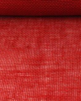 Jute-Tischläufer rot, 30 cm breit, 10 m Rolle - juteband
