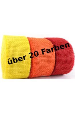 Juteband 60mm viele Farben