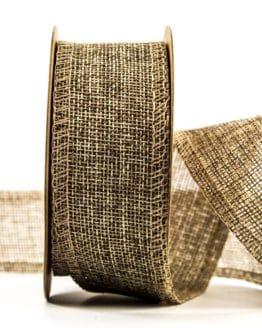 Edel-Juteband, natur, 40 mm breit - juteband, andere-baender