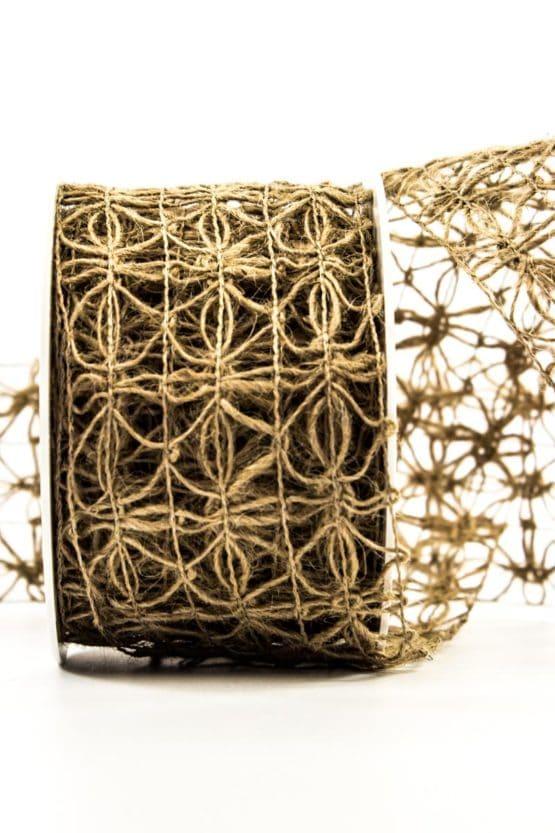 Jute-Gitterband, natur, 70 mm breit - juteband, andere-baender