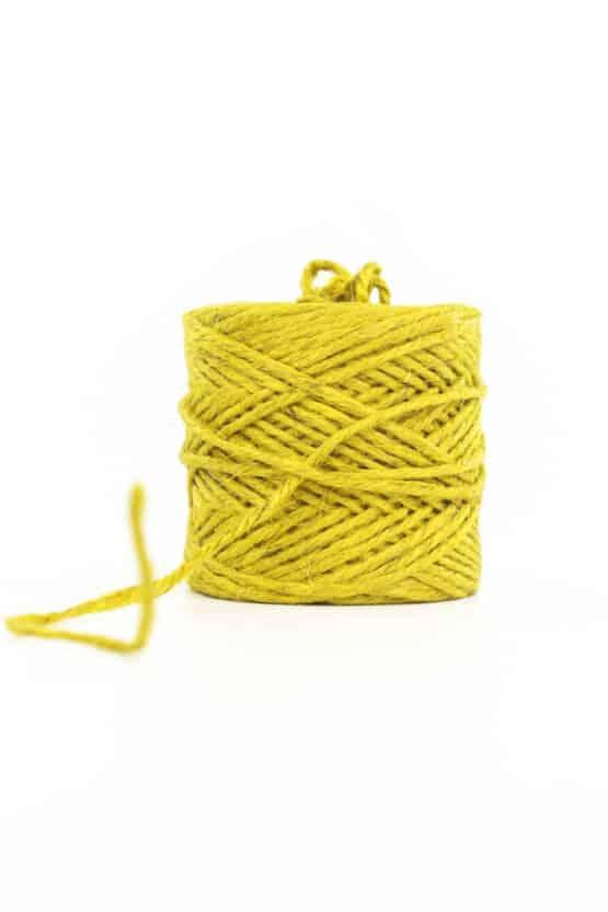 Jute-Kordel, gelb, 3 mm stark - kordeln, andere-baender
