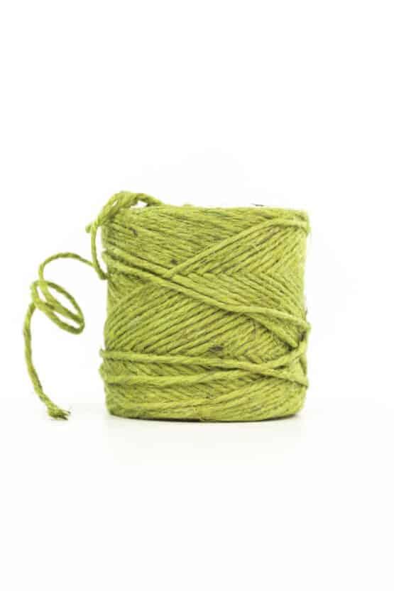 Jute-Kordel, grün, 3 mm stark - kordeln, andere-baender