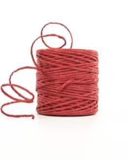 Jute-Kordel, rot, 3 mm stark - kordeln, andere-baender