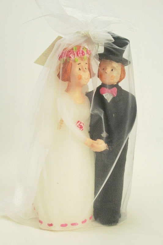 Motivkerze Brautpaar - hochzeit, hochzeitsdeko, anlasse