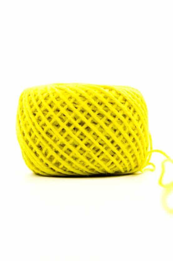 Jutekordel gelb, 1 mm stark - kordeln, andere-baender