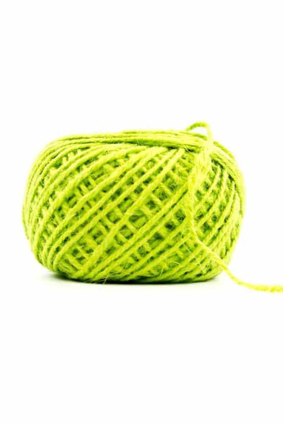 Jutekordel grün, 1 mm stark - kordeln, andere-baender