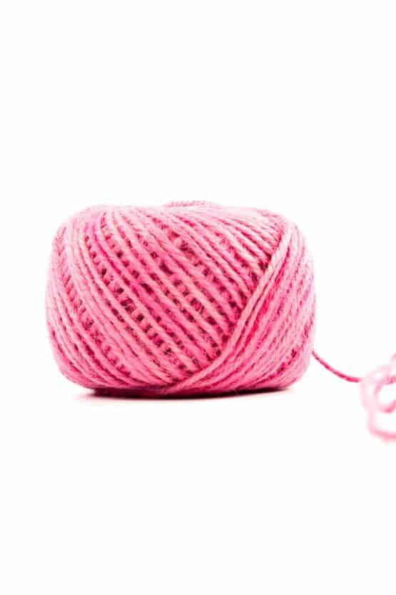 Jutekordel pink, 1 mm stark - kordeln, andere-baender