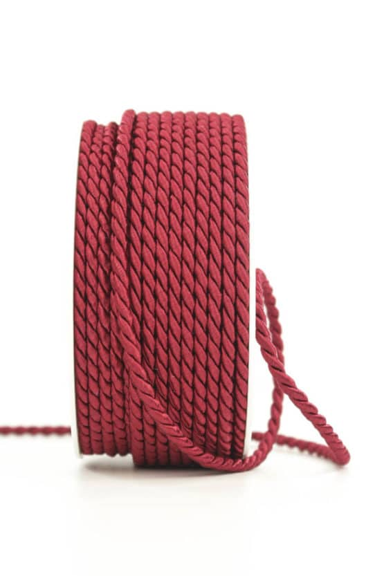 Kordel, rot, 6 mm stark - kordeln, andere-baender